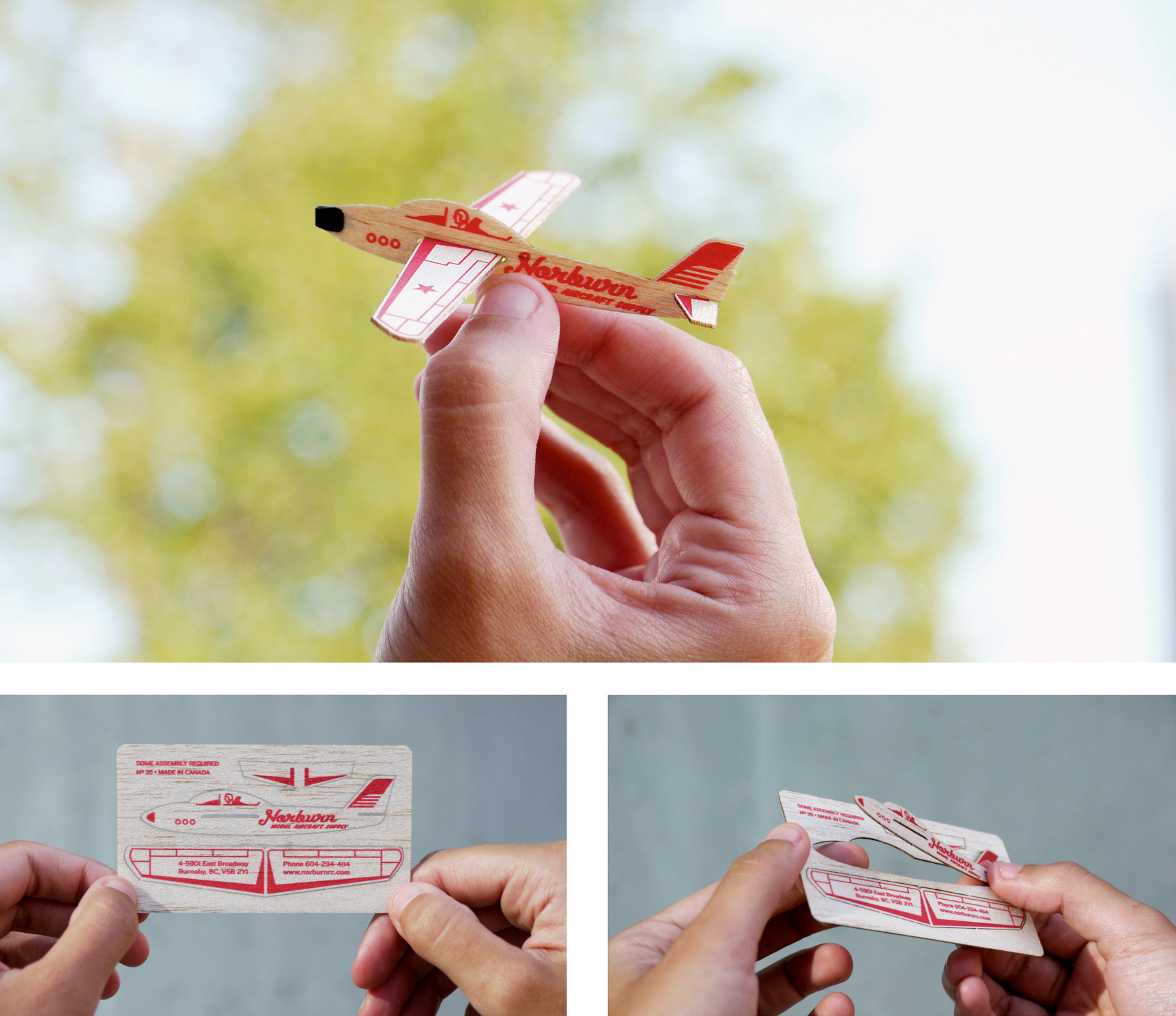Airplane Business Card