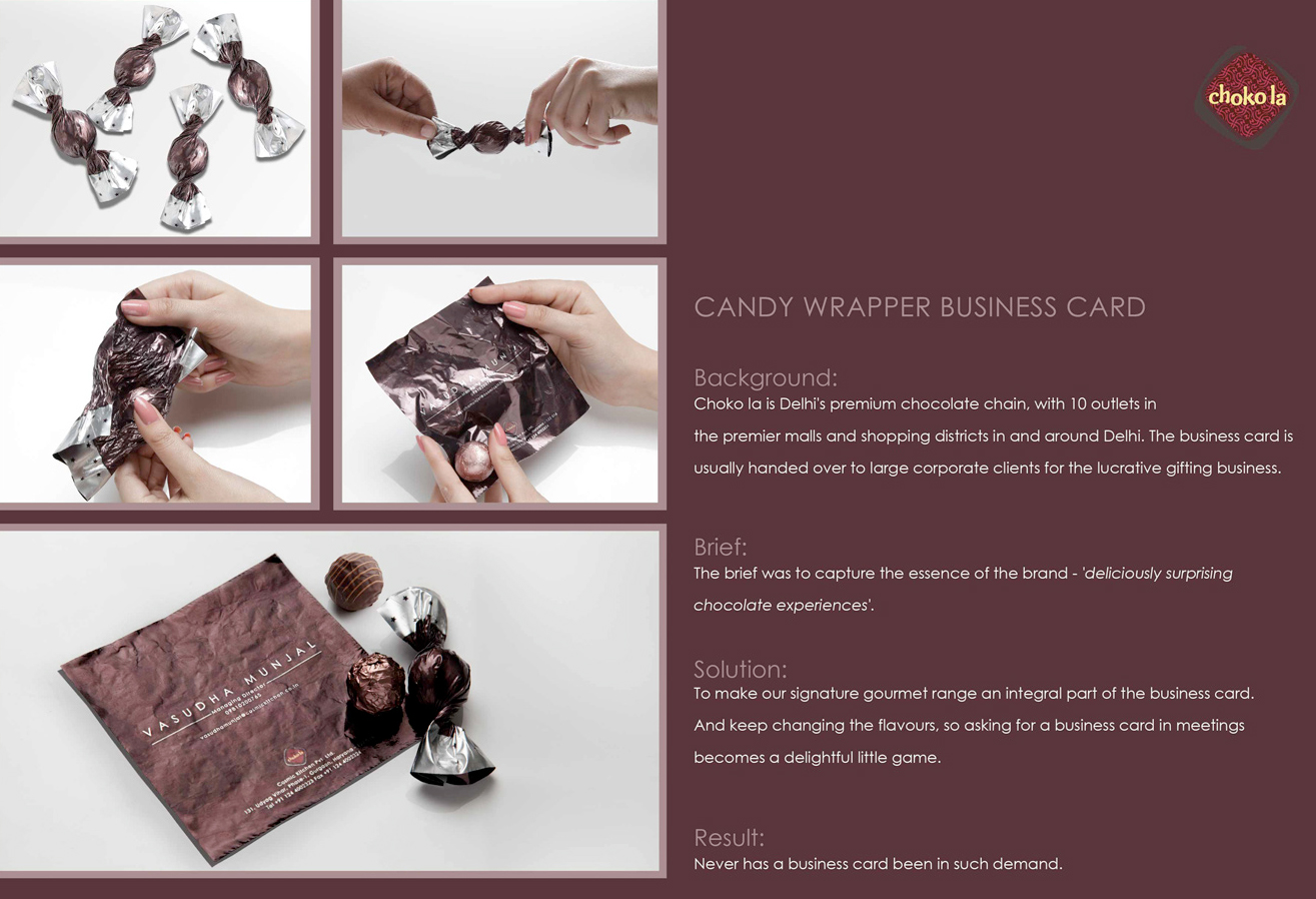 Candy Wrapper Business Card