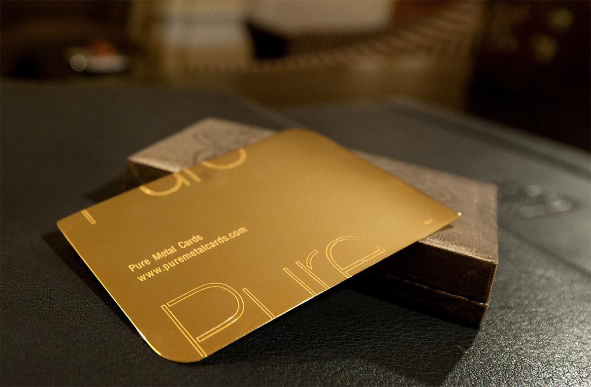 Gold business card colourmoves