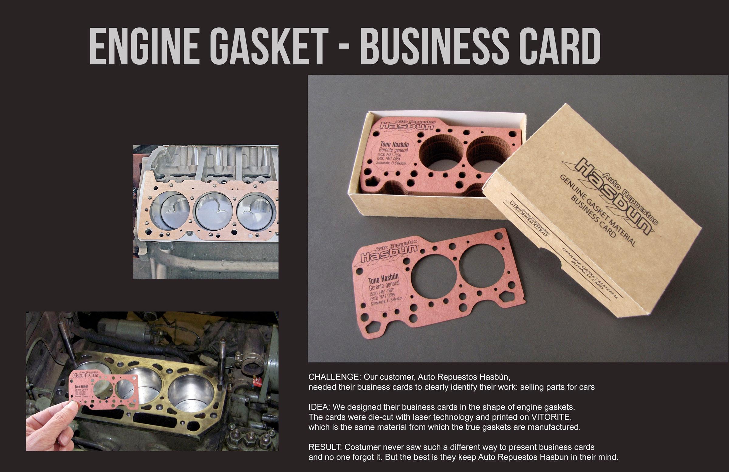 Engine Gasket Business Card