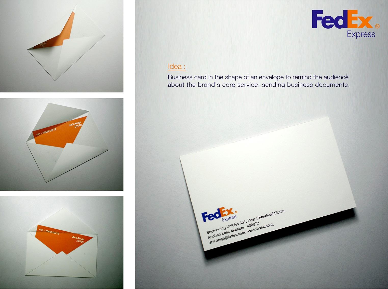 FedEx Envelope Business Card