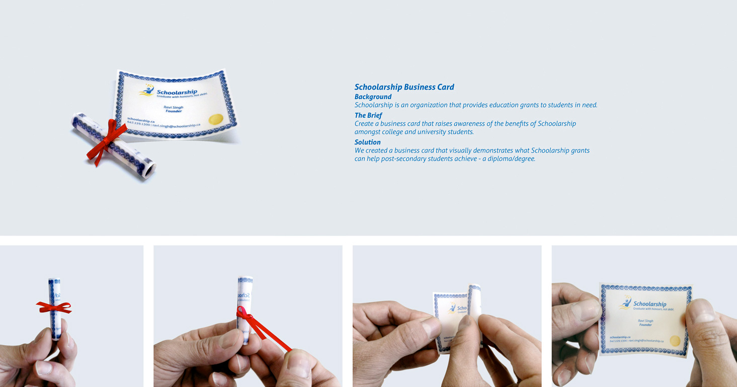 Diploma Business Card