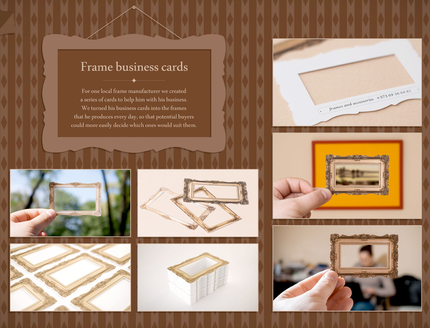 Picture frame business card magicingreecefo Gallery
