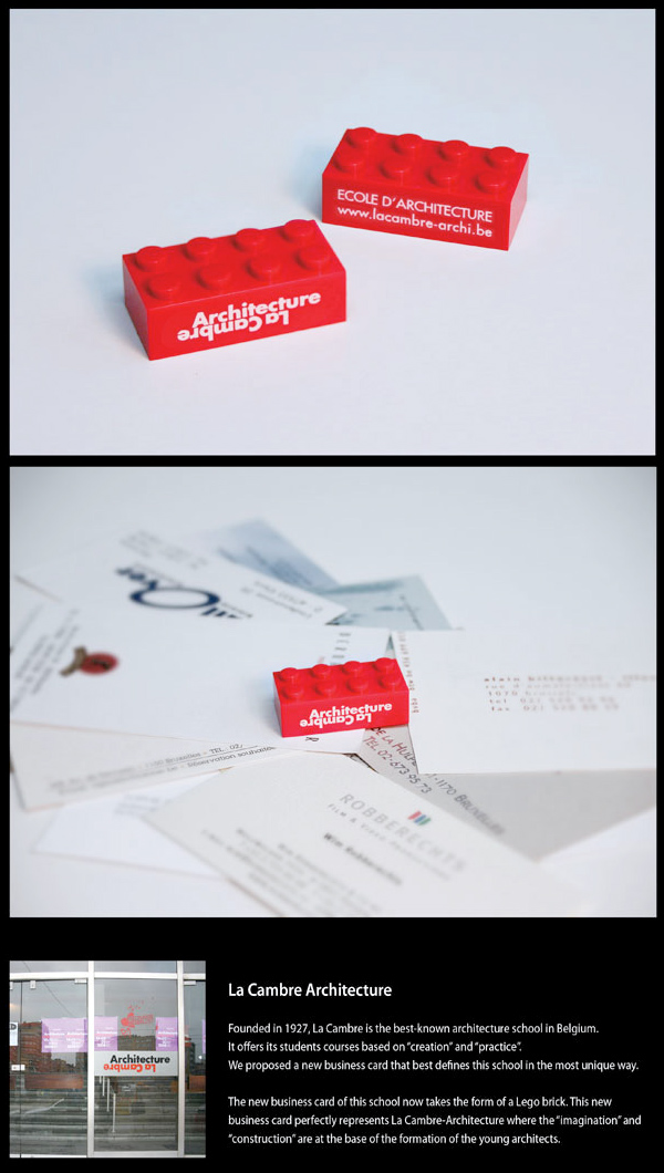 LEGO Brick Business Card