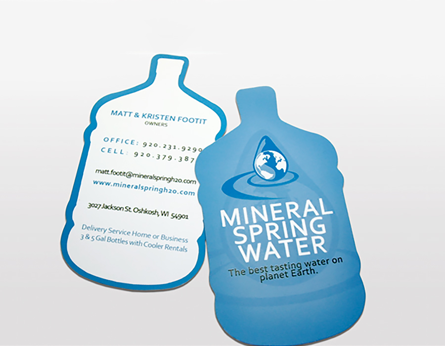 Water Bottle Business Card
