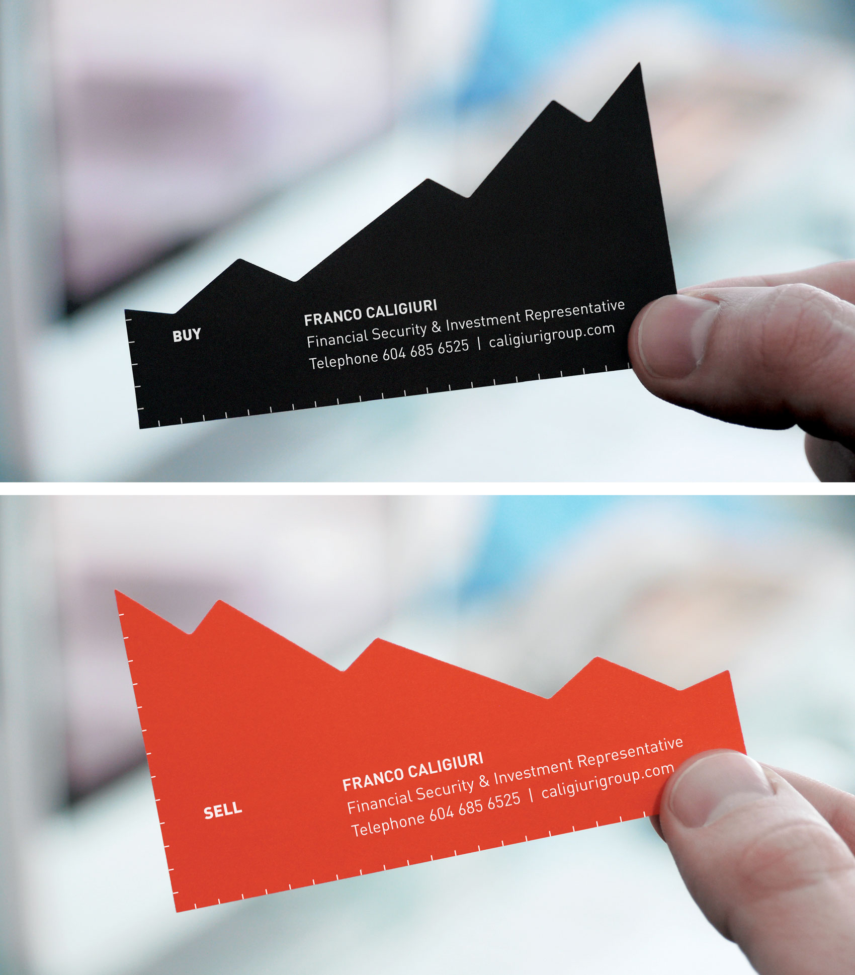 Stock Chart Business Card