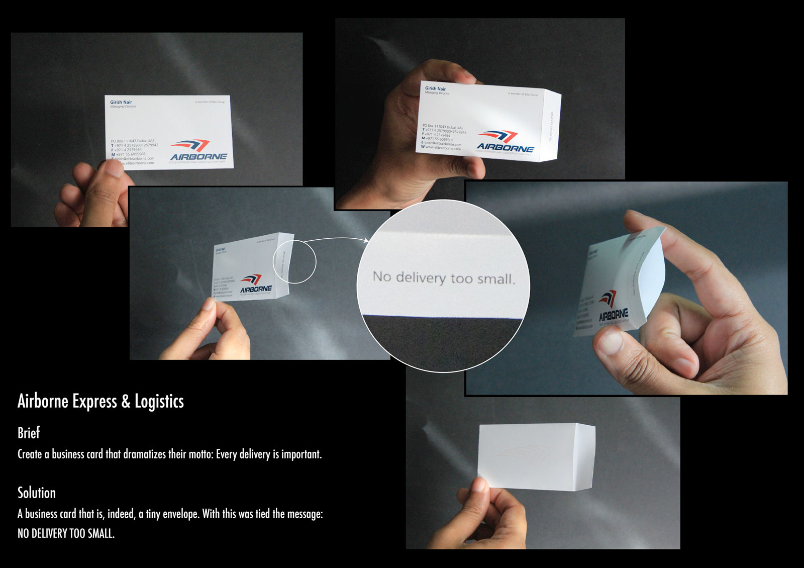 Airborne Envelope Business Card