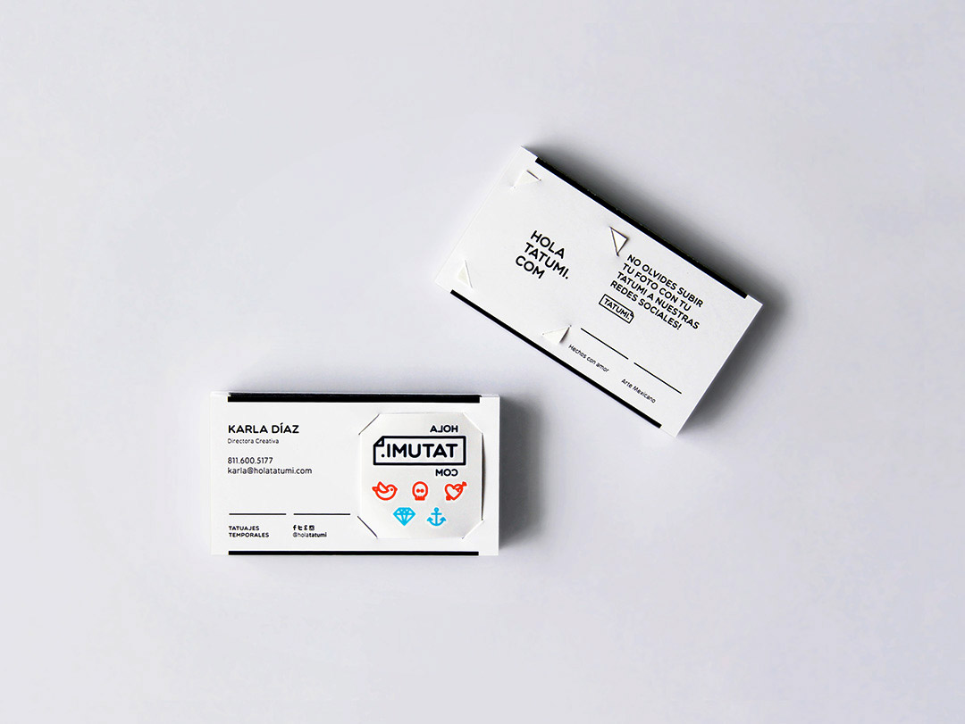 Temporary Tattoo Business Card