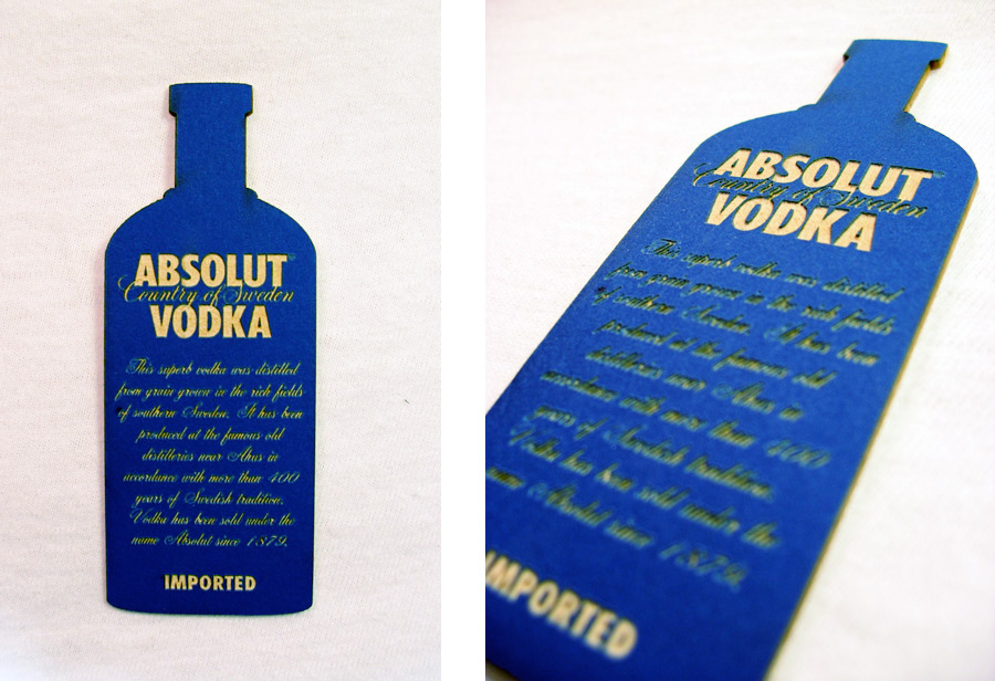 Absolut Vodka Business Card