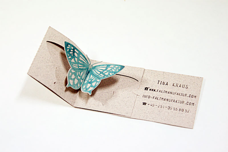 Pop-Up Butterfly Business Card