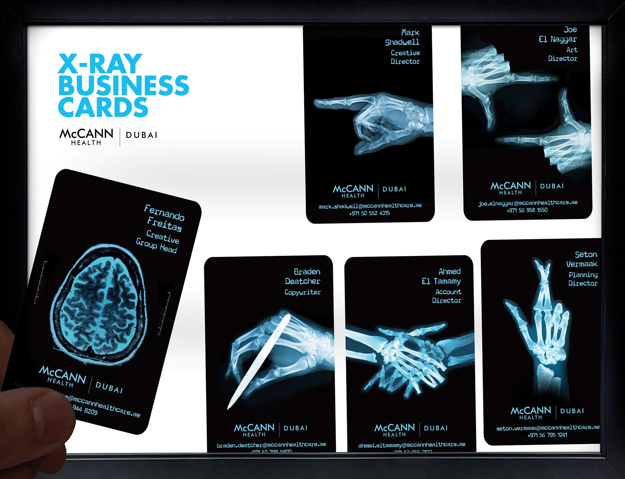 X Ray Business Cards