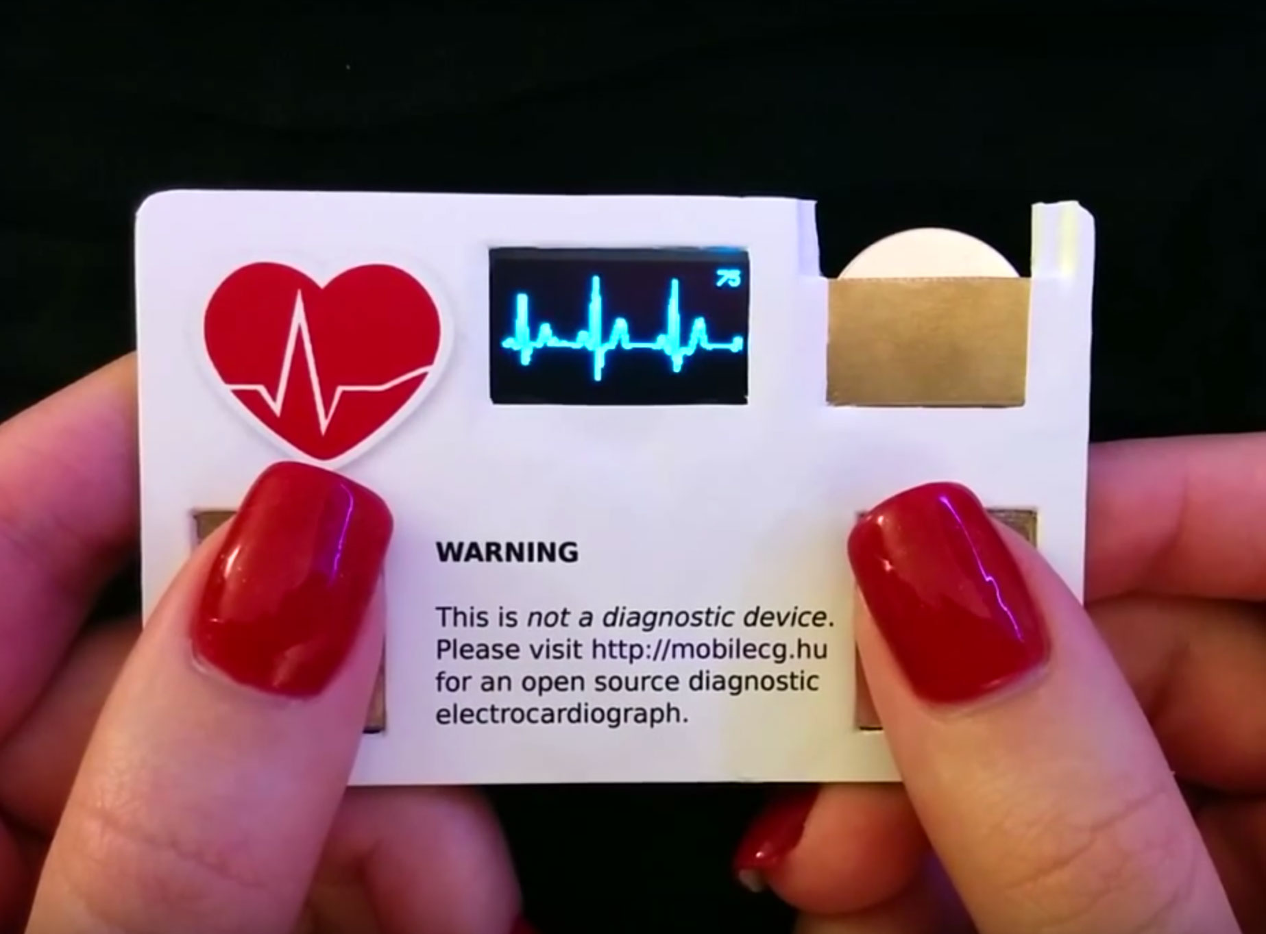 Heart Monitor Business Card