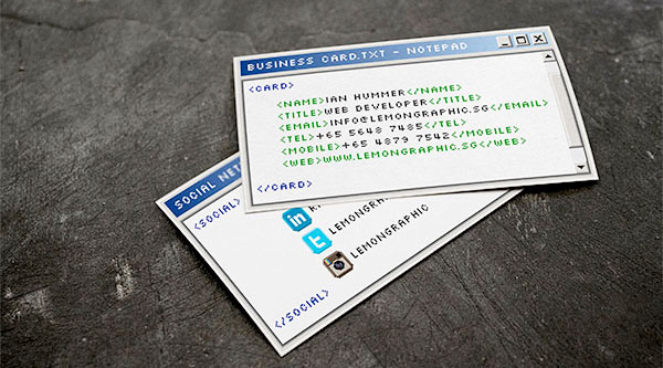 Paper business cards windows notepad business card colourmoves