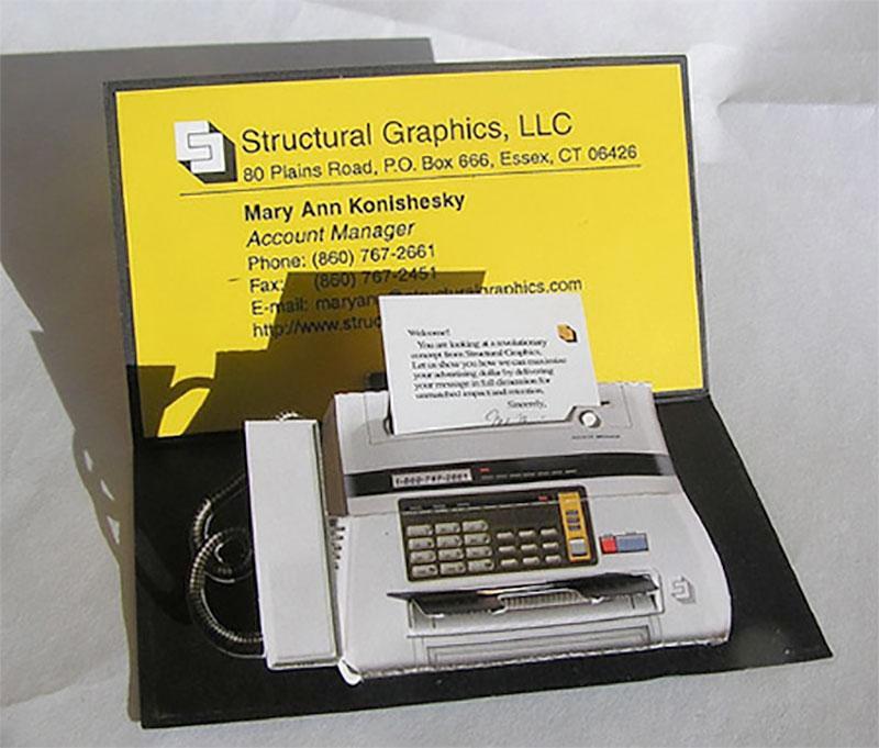 Fax Machine Business Card