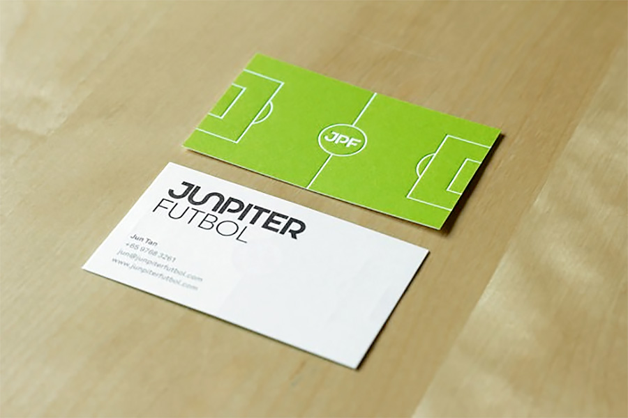 Football Field Business Card
